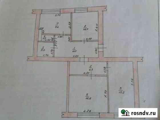 3-комнатная квартира, 74 м², 4/4 эт. Уварово