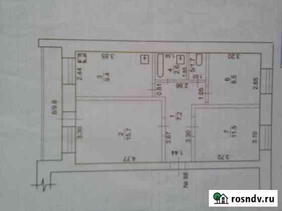 3-комнатная квартира, 61 м², 1/5 эт. Учалы