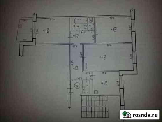 3-комнатная квартира, 68 м², 2/5 эт. Архара