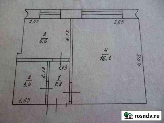 1-комнатная квартира, 27 м², 1/2 эт. Поспелиха