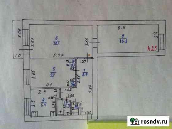 3-комнатная квартира, 62 м², 3/5 эт. Забайкальск