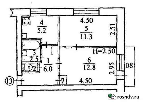 2-комнатная квартира, 38 м², 4/4 эт. Амурзет