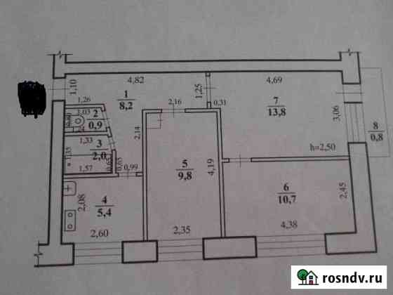 3-комнатная квартира, 52 м², 4/5 эт. Атамановка