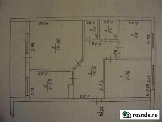 3-комнатная квартира, 58 м², 3/3 эт. Белая Глина