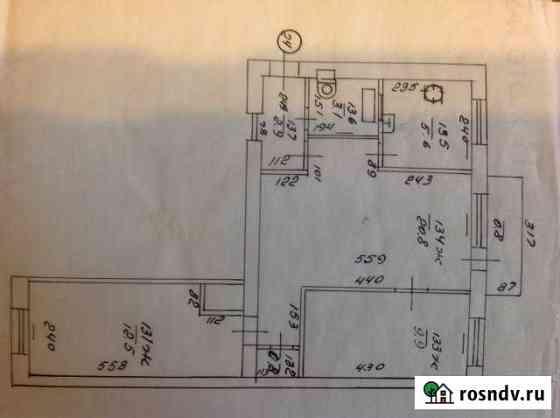 3-комнатная квартира, 56 м², 2/4 эт. Советск