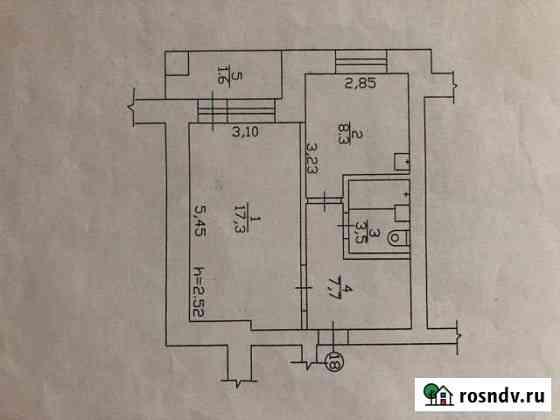 1-комнатная квартира, 38 м², 5/5 эт. Дюртюли