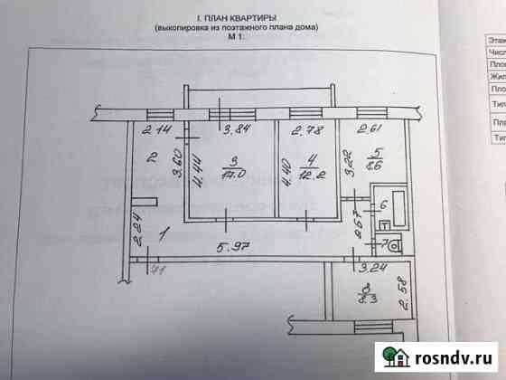 4-комнатная квартира, 75 м², 5/5 эт. Великий Новгород