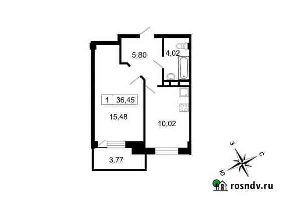 1-комнатная квартира, 36 м², 9/10 эт. Свердлова
