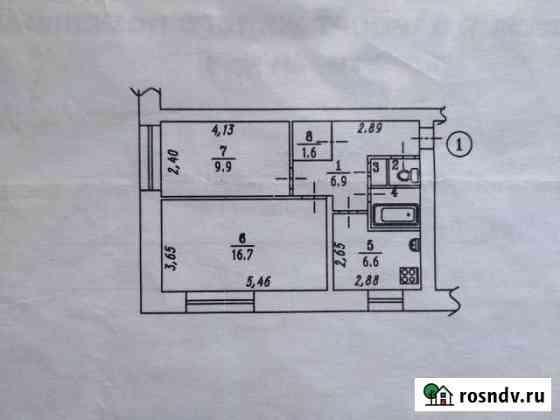 2-комнатная квартира, 45 м², 1/2 эт. Омск