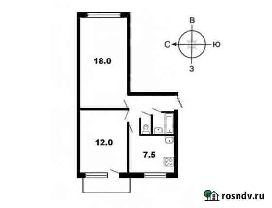 2-комнатная квартира, 44 м², 3/5 эт. Сыктывкар