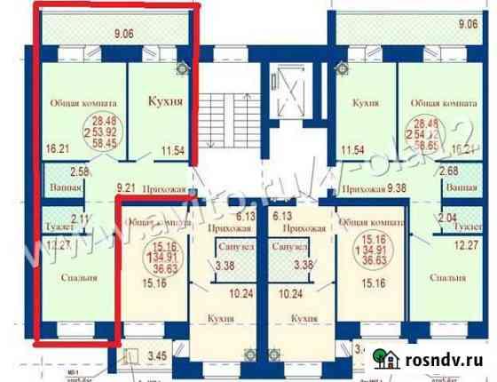 2-комнатная квартира, 58 м², 2/7 эт. Медведево