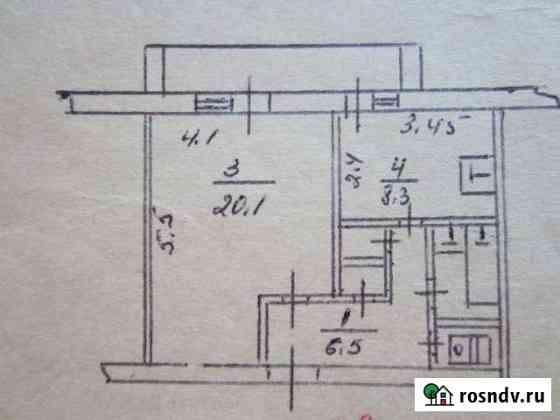 1-комнатная квартира, 42 м², 1/2 эт. Белогорск