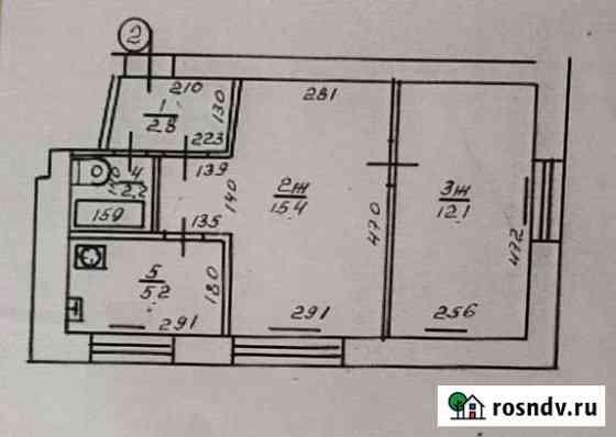 2-комнатная квартира, 37.7 м², 2/4 эт. Советск