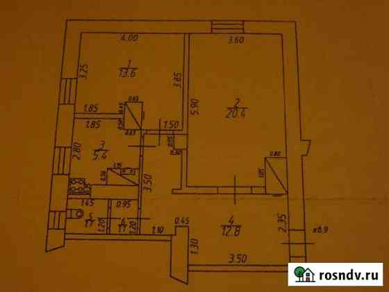 2-комнатная квартира, 55 м², 1/2 эт. Пустошка