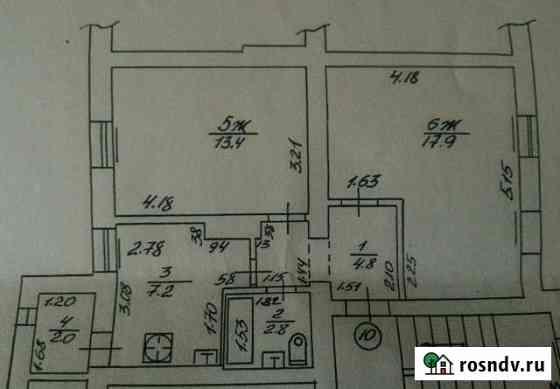 2-комнатная квартира, 48 м², 2/3 эт. Нестеров