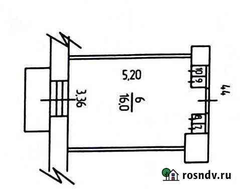 Комната 17 м² в 1-ком. кв., 3/4 эт. Северодвинск
