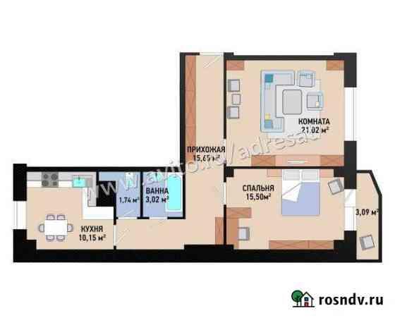 2-комнатная квартира, 68 м², 1/7 эт. Волгоград