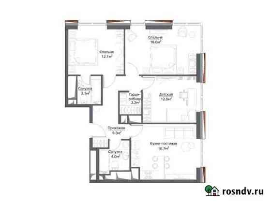 3-комнатная квартира, 80 м², 22/30 эт. Москва