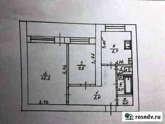 2-комнатная квартира, 51.9 м², 2/3 эт. Красногвардейское