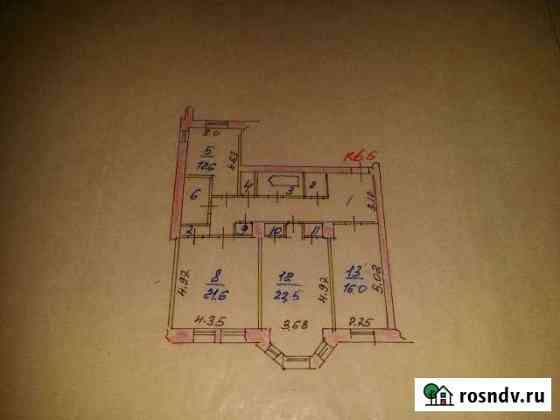 3-комнатная квартира, 105 м², 2/3 эт. Тейково
