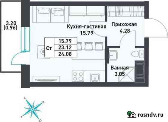 Студия, 24.1 м², 9/9 эт. Свердлова