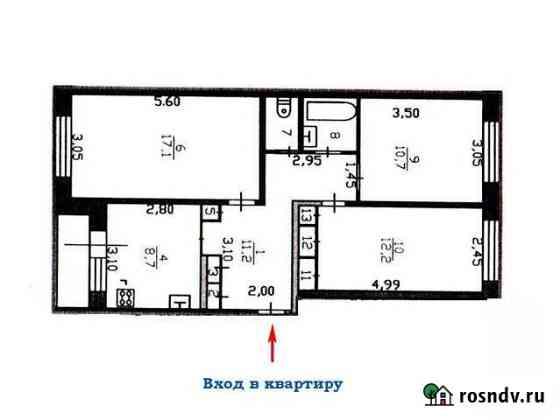 3-комнатная квартира, 67.7 м², 1/5 эт. Сясьстрой