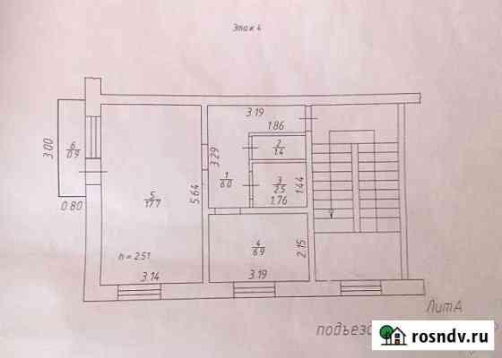 1-комнатная квартира, 35 м², 4/5 эт. Уяр
