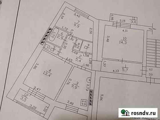 3-комнатная квартира, 65 м², 5/5 эт. Гуково