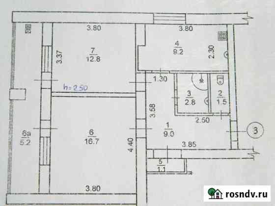 2-комнатная квартира, 58 м², 1/4 эт. Черноморское
