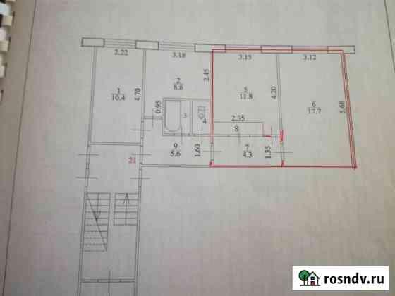 Комната 35.2 м² в 3-ком. кв., 1/5 эт. Благовещенск