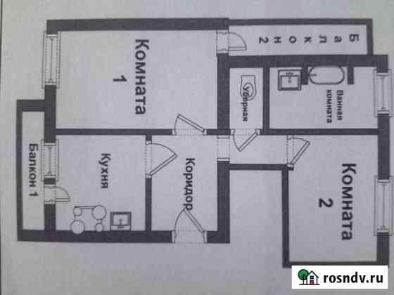 2-комнатная квартира, 73.4 м², 1/2 эт. Томилино