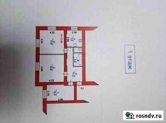 Комната 18 м² в 3-ком. кв., 1/2 эт. Кинешма