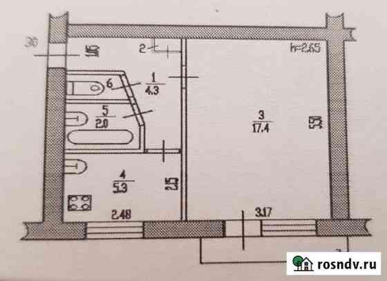 1-комнатная квартира, 30.2 м², 3/5 эт. Вышний Волочек