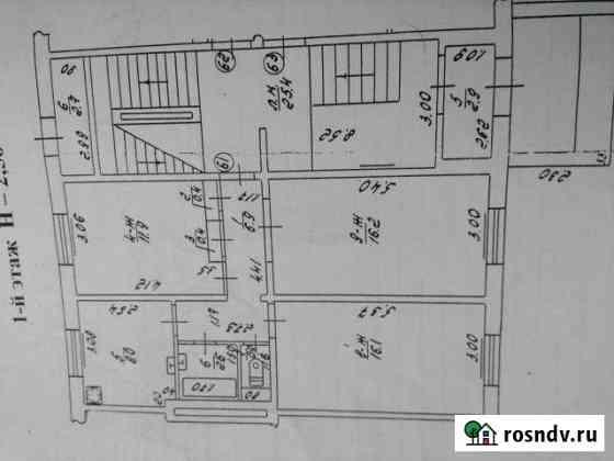 3-комнатная квартира, 63.4 м², 1/5 эт. Черняховск