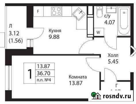 1-комнатная квартира, 36.7 м², 5/14 эт. Ватутинки
