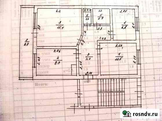 3-комнатная квартира, 60.9 м², 1/2 эт. Мещовск