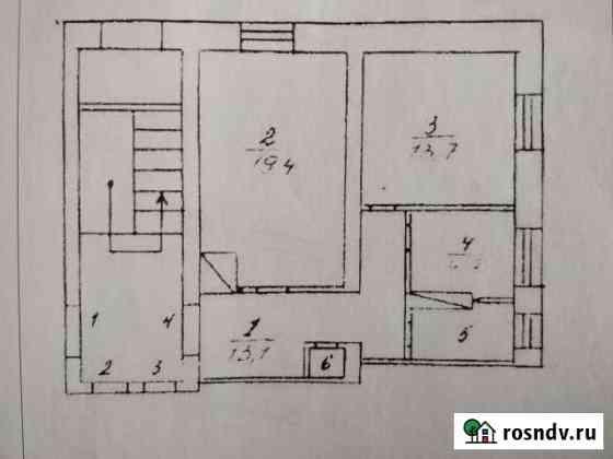 2-комнатная квартира, 54.7 м², 1/2 эт. Артемовский
