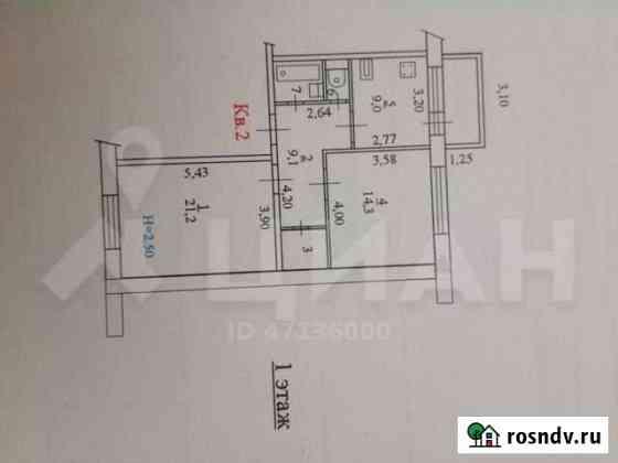 2-комнатная квартира, 60 м², 1/5 эт. Шуя