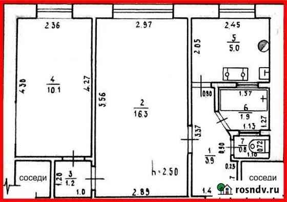 2-комнатная квартира, 39 м², 1/3 эт. Моздок