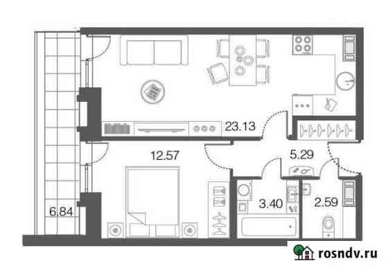 1-комнатная квартира, 47 м², 5/5 эт. Сестрорецк
