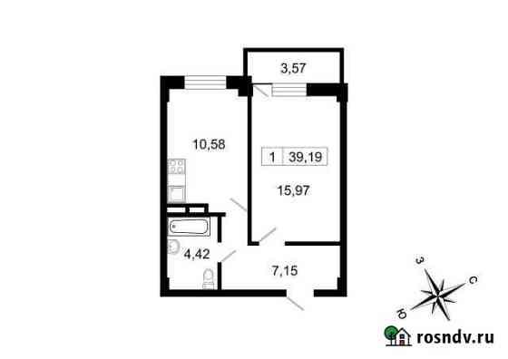 1-комнатная квартира, 39.2 м², 5/10 эт. Свердлова