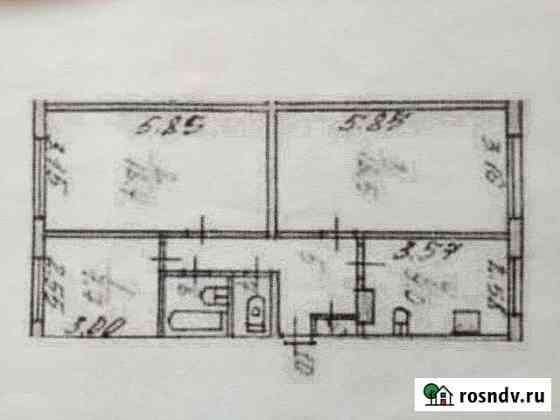 3-комнатная квартира, 67 м², 2/2 эт. Умба