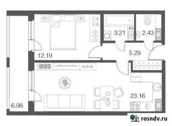 1-комнатная квартира, 46.3 м², 3/5 эт. Сестрорецк
