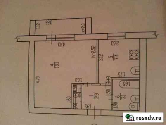 1-комнатная квартира, 34 м², 3/5 эт. Фокино