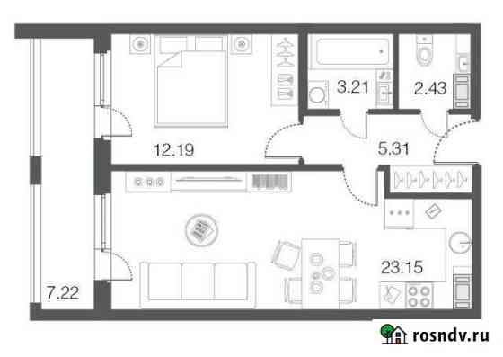 1-комнатная квартира, 46.2 м², 4/5 эт. Сестрорецк
