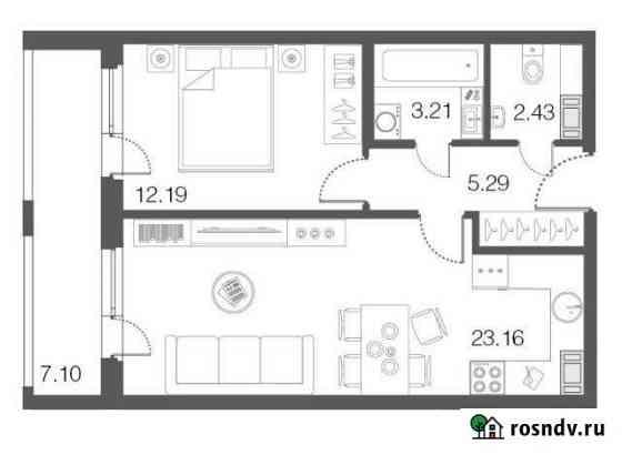 1-комнатная квартира, 46.3 м², 2/5 эт. Сестрорецк