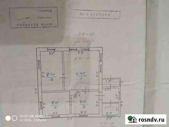 Дом 63.3 м² на участке 21 сот. Засосна