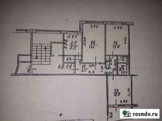 3-комнатная квартира, 68 м², 3/5 эт. Ливны