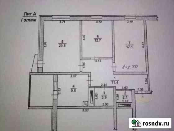 3-комнатная квартира, 77 м², 1/6 эт. Борисоглебск