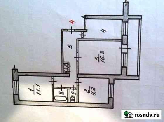 3-комнатная квартира, 64.5 м², 3/9 эт. Губаха